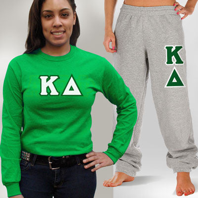 Kappa Delta Longsleeve / Sweatpants Package - TWILL