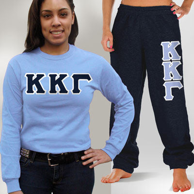 Kappa Kappa Gamma Longsleeve / Sweatpants Package - TWILL
