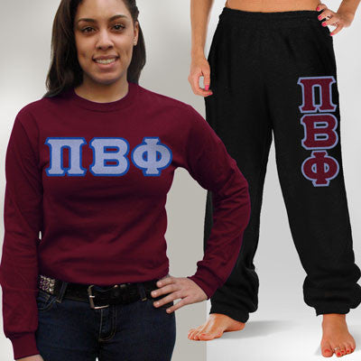 Pi Beta Phi Longsleeve / Sweatpants Package - TWILL