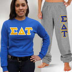 Sigma Delta Tau Longsleeve / Sweatpants Package - TWILL