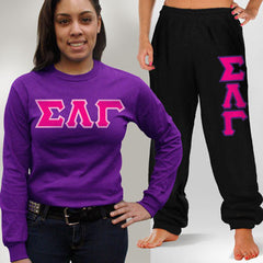 Sigma Lambda Gamma Longsleeve / Sweatpants Package - TWILL