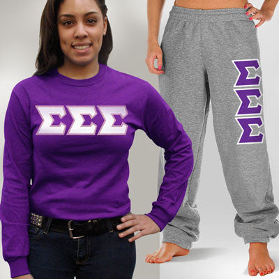 Sigma Sigma Sigma Longsleeve / Sweatpants Package - TWILL