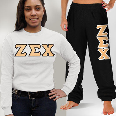 Zeta Sigma Chi Longsleeve / Sweatpants Package - TWILL