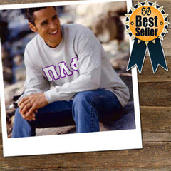 Fraternity Long Sleeve T-Shirt with Twill - Gildan 2400 - TWILL