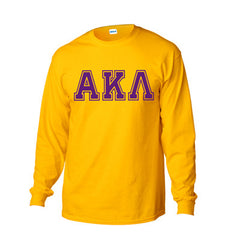 Greek Varsity Printed Long-Sleeve T-Shirt - Gildan 2400 - CAD