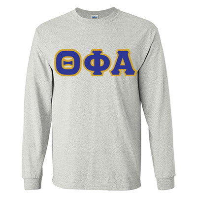 Theta Phi Alpha Longsleeve T-Shirt with Twill - Gildan 2400 - TWILL