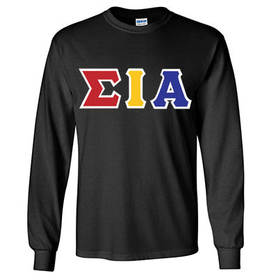 Sigma Iota Alpha Longsleeve T-Shirt with Twill - Gildan 2400 - TWILL
