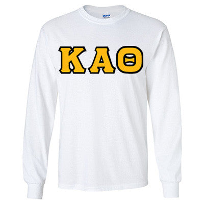 Kappa Alpha Theta Longsleeve T-Shirt with Twill - Gildan 2400 - TWILL