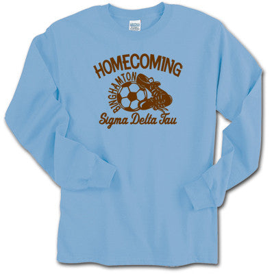 Greek Soccer Homecoming Longsleeve Tee - Gildan 2400 - CAD