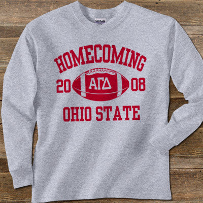 Greek Homecoming Longsleeve Printed Tee - Gildan 2400 - CAD