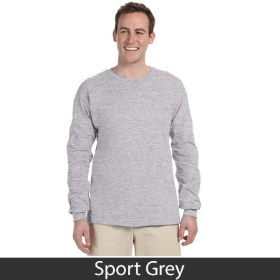 Greek Vertical Arc Printed Longsleeve - Gildan 2400 - CAD