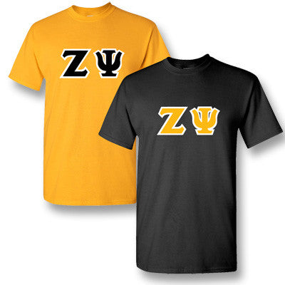 Zeta Psi Fraternity 2 T-Shirt Pack - Gildan 5000 - TWILL