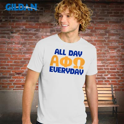 Greek All Day Everyday Printed T-Shirt - Gildan 64000 - CAD