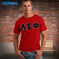 Fraternity Softstyle Tee w/ Twill Letters - Gildan 64000 - TWILL