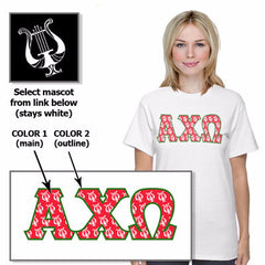 Sorority Mascot Pattern Printed Tee - Jerzees 21MR - SUB