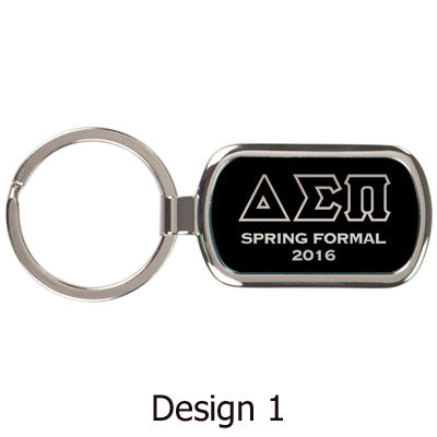 Custom Greek Formal Engraved Metal Keychain - GFT090 - LZR
