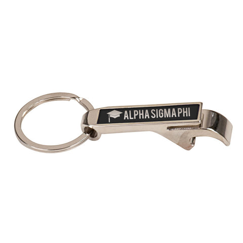 Custom Greek Graduation Engraved Bottle Opener Keychain - GFT120 - LZR