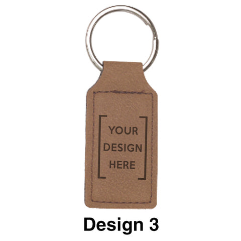 Custom Greek Graduation Rectangle Leather Keychain - GFT178 - LZR