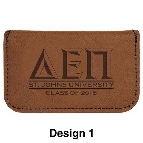 Custom Greek Graduation Business Card Holder - GFT182 - LZR