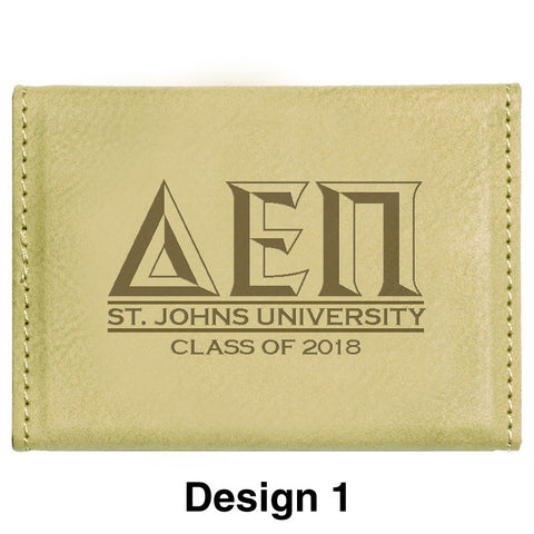 Custom Greek Graduation Hard Business Card Holder - GFT183 - LZR