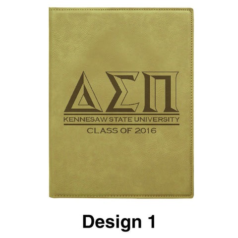 Custom Graduation Mini Leather Portfolio with Notepad - GFT212 - LZR