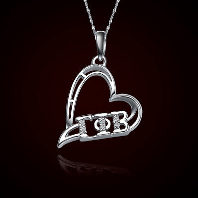 Gamma Phi Beta Sorority Heart Charm - GSTC-HeartCharm