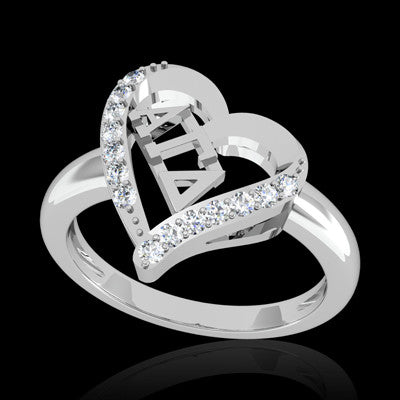 Alpha Gamma Delta Sorority Heart Ring - GSTC-R002