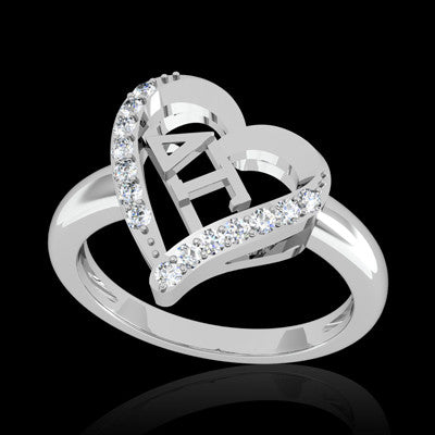 Delta Gamma Sorority Heart Ring - GSTC-R002