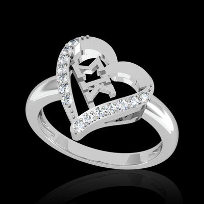 Sigma Kappa Sorority Heart Ring - GSTC-R002
