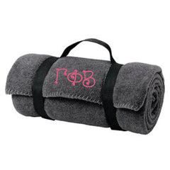 Gamma Phi Beta Fleece Blanket - Port and Company BP10