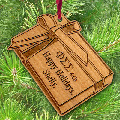Greek Engraved Gift Box Ornament - LZR