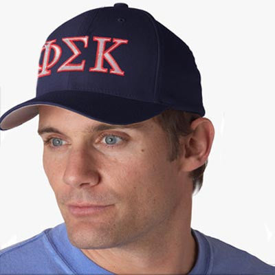 Greek FlexFit 2-Color Embroidered Hat - Yupoong 6277 - EMB