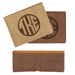 Greek Monogram Leather Wallet - GFT189,190 - LZR