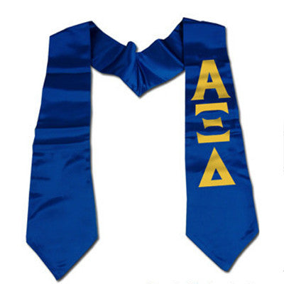 Greek Printed Budget Graduation Stole - CAD