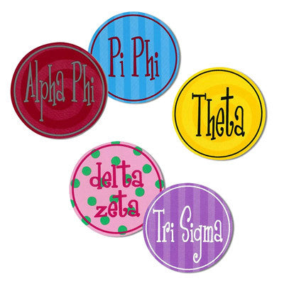 Sorority Round Bumper Stickers - Alexandra Co. a1022