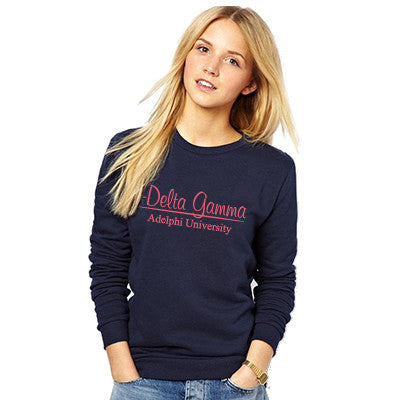 Greek Group and School Printed Crewneck Sweatshirt - Gildan 18000 - CAD