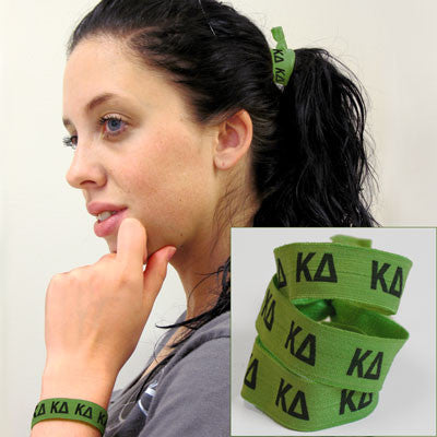 Kappa Delta Hair Ties - Scribbles & Such SNS