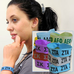 Sorority Hair Ties - Scribbles & Such SNS