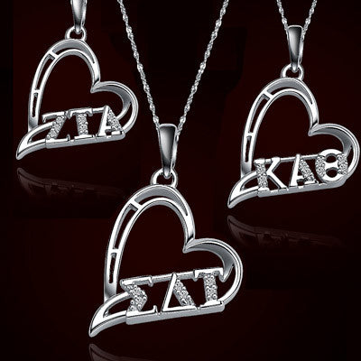 Sorority Heart Charms with Stones - GSTC-HeartCharm