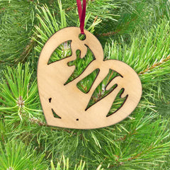 Sorority Engraved Heart Ornament - LZR