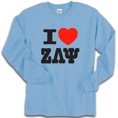 I Love My Sorority Printed Longsleeve - Gildan 2400 - CAD