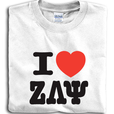 I Heart My Sorority Printed T-Shirt - Gildan 5000 - CAD