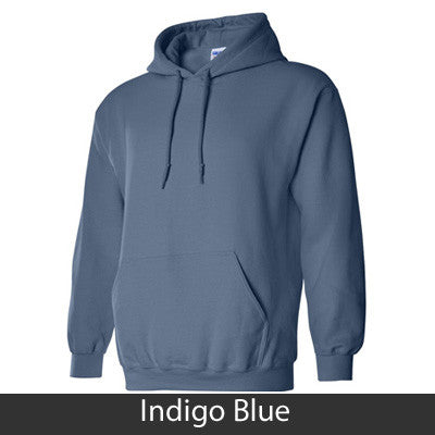 Pi Beta Phi State and Date Printed Hoody - Gildan 18500 - CAD