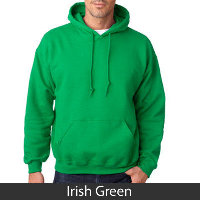 Alpha Sigma Tau Hooded Sweatshirt - Gildan 18500 - TWILL