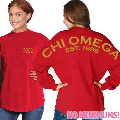 Chi Omega Game Day Jersey - J. America 8229 - CAD