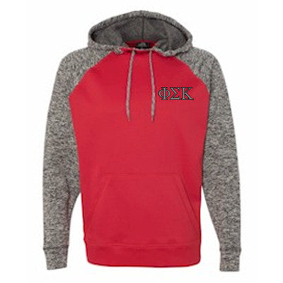 Fraternity Embroidered Colorblock Cosmic Hoodie - JA8612 - EMB