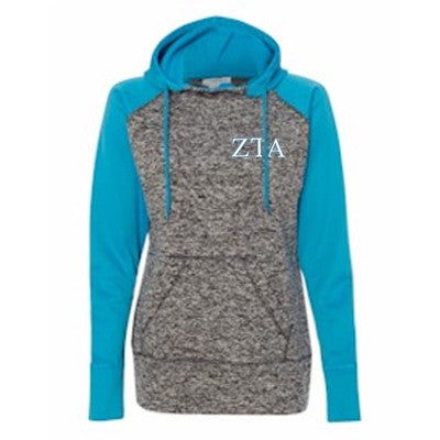 Sorority Embroidered Colorblock Cosmic Hoodie - JA8618 - EMB