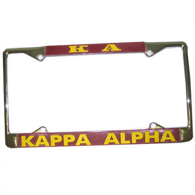 Kappa Alpha License Plate Frame - Rah Rah Co. rrc