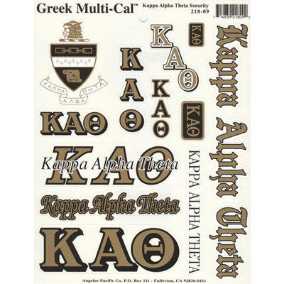 Kappa Alpha Theta Multi-Cal Stickers