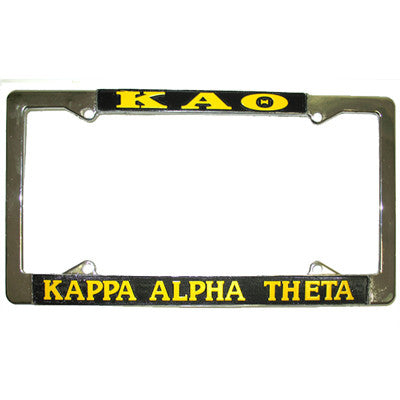 Kappa Alpha Theta License Plate Frame - Rah Rah Co. rrc